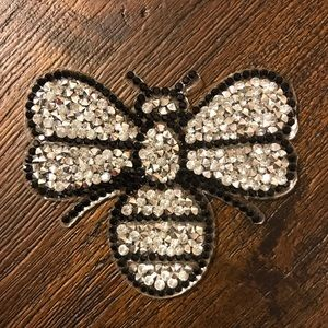 Bee Rhinestone 3D Iron On Patch For Clothing